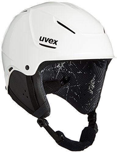 UVEX Kinder Skihelm p1us junior, White, 55-59 cm, S5661801005