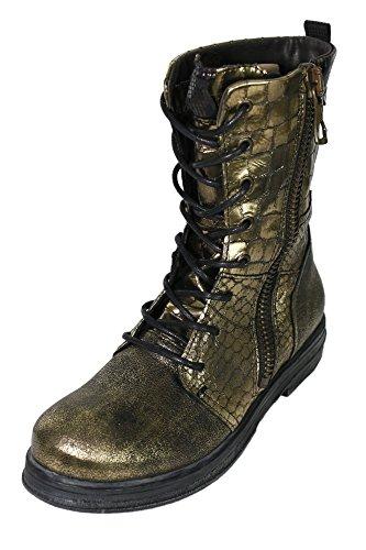 Replay Sadda Boots Stiefel Stiefelette Damen Leder, Farbe:gold;Schuhgrößen:35