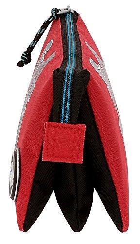 41msCYdDNkL - Movom Skateboard Neceser de Viaje, 22 cm, 1.32 Litros, Rojo