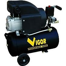 Vigor Vca-24L - Compresores, 220 V, 1 Cilindro, De Accionamiento Directo, 2 Hp, 24 L