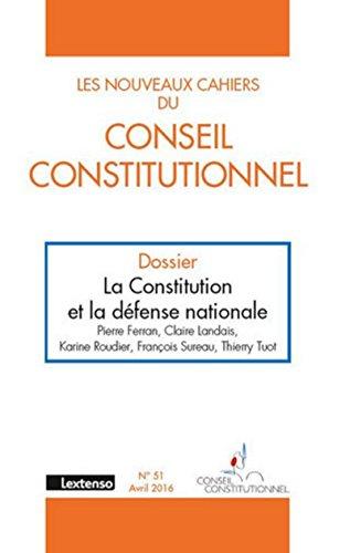 Les Nouveaux cahiers du Conseil Constitutionnel N°51-2016