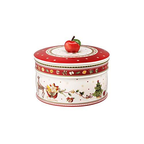 Villeroy & Boch Winter Bakery Delight Große Vorratsdose für Gebäck, Premium Porzellan, Weiß/Rot