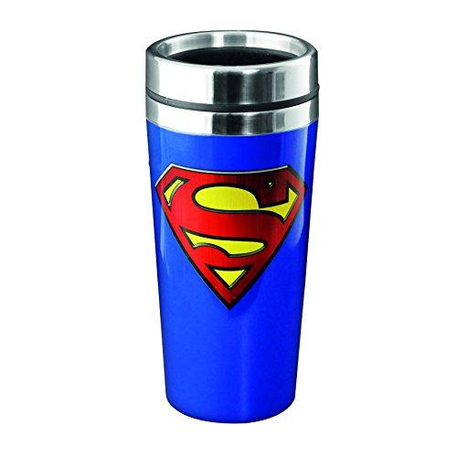 Lasgo Superman Tazza da Viaggio, Ceramica, Multicolore, 12x10.8x9.2 cm