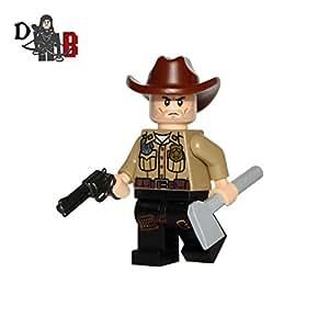 Lego Sur Mesure The Walking Dead Rick Grimes Avec Six Shooter Et Un Chapeau Sur Mesure