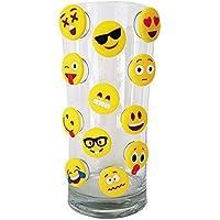 Cristal Marcador Copa de vino Wine Fiesta Glass Markers emoji de Silicona, 12 Unidades, Reutilizables