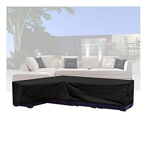 NINGWXQ L Möbelabdeckung, wasserdicht, Anti-UV-Schutz für Terrasse, Ecke, Sofa, Gerät, rechteckig, Verschiedene Größen, Synthetikfaser, Schwarz, 300X300X70CM