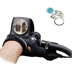 West Radfahren Reiten Fahrrad Rückspiegel Handschuhe-rutschfeste Fahrradhandschuhe Halbfinger mit Reflektor Fahrrad Mountain Rückspiegel Handschuhe (1auf der linken Hand), Herren Kinder damen