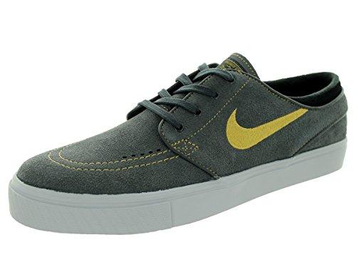 Nike Zoom Stefan Homens Janoski Skate Sapatos Preto / Amarelo (anthrct Mtllc Gld Preto-brght Cr)