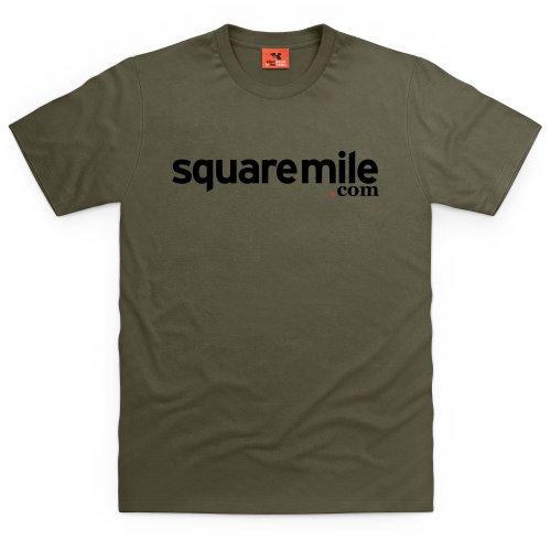 Square Mile Logo T-Shirt, Herren Olivgrn