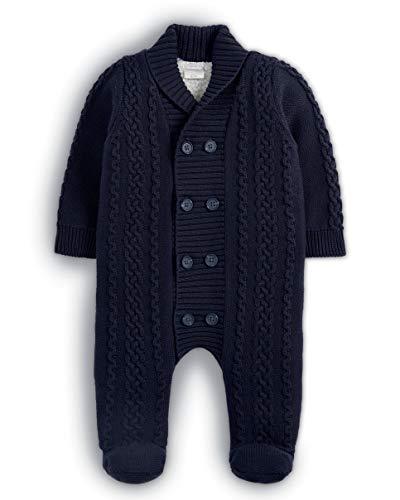 Mamas & Papas Knitted Pramsuit Tuta da Neve, Blu Navy, Neonato Bimbo