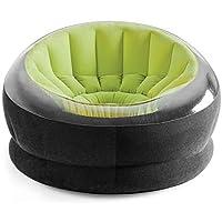 انتيكس68582,  كرسي قابل للنفخ مع منفاخ هوائي يدوي -أخضر/أسود