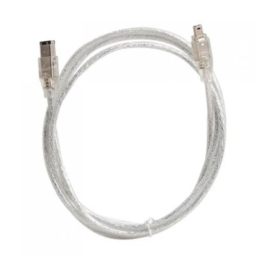 Generic IEEE 1394 FireWire iLink DV Cable 4 pin to 6 pin M/M 4 ft  available at amazon for Rs.210