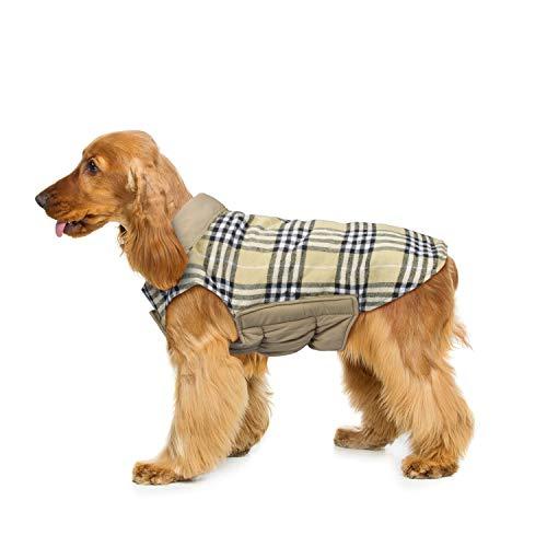 Wooce Abrigo de Tela Escocesa Reversible del otoño Abrigo de Invierno cálido...