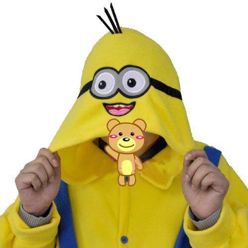 Image of Polar Fleece Despicable Me Yellow and Blue Minions Unisex Onesie Cosplay Costume Hoodies/Pyjamas/Sleep Wear (S(150-163 CM))