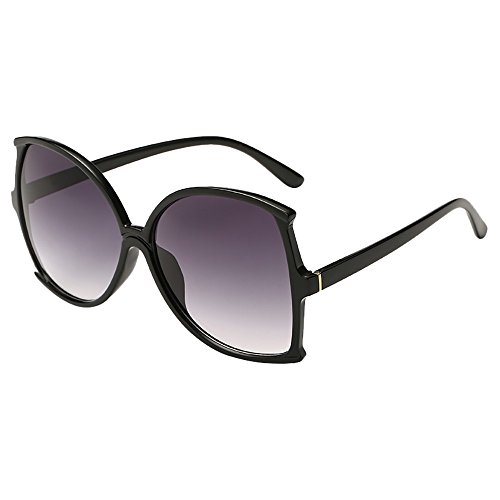 WooCo Beförderung! Big Frame Sonnenbrillen für Damen Herren, Unisex Vintage unregelmäßige Form Sonnenbrille Eyewear Retro(G,One size)