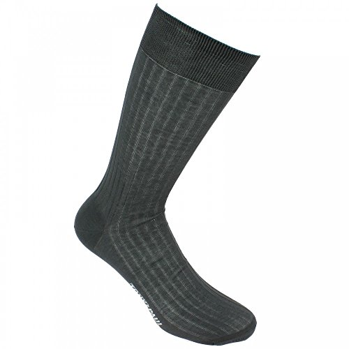 Mercerised cotton socks, Premium quality. - gray - Tony & Paul