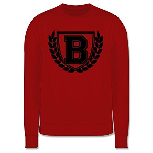 Anfangsbuchstaben - B Collegestyle - Herren Premium Pullover Rot