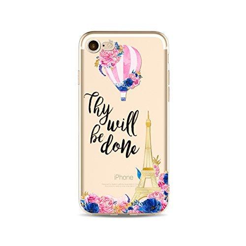 Coque iPhone 7 Plus Housse étui-Case Transparent Liquid Crystal Fleur en TPU Silicone Clair,Protection Ultra Mince Premium,Coque Prime pour iPhone 7 plus (2016)-style 4 style 12