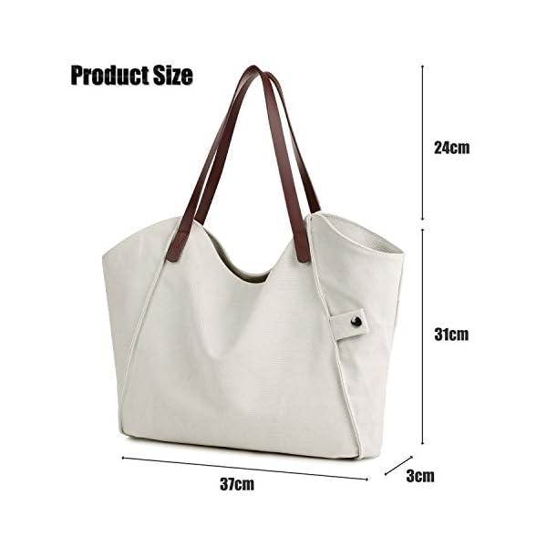 5646fe8da26 LOSMILE Women s Canvas Handbags Top-Handle Hobo Shoulder Bag Tote ...