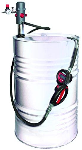 Equipo de lubricación de aceite para dispensacion desde bidon de 209l. Bomba RDC 3 ratio 3:1. Pistola digital contadora con salida antigoteo. Manguera de