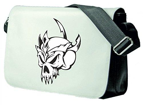 zessin Schädel mit Dornenkrone Skelett Rocker Motorradclub Gothic Biker Skull Emo Old School