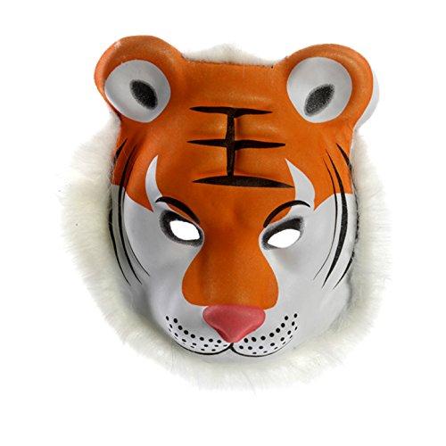 (517) Tiermaske aus Kunststoff Masken für Erwachsene Karneval Fasching Maske Tier (Maske Tiger Kunststoff)