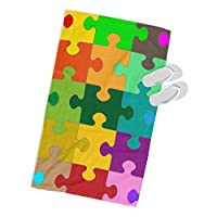 BoyGenius Jigsaw Puzzle MICROFIBRE BEACH TOWEL Designer Multi-Coloured