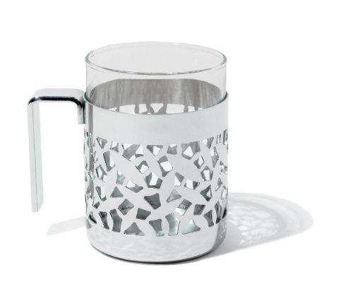 Alessi Cactus Teeglas, Glas, Edelstahl 20 x 10 x 29 cm