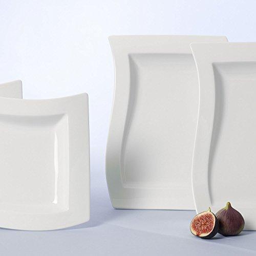Villeroy & Boch NewWave Gourmet-Set / Tellerset in modernem Design aus weißem Premium Porzellan / Ergänzung zu NewWave Tafelservice / spülmaschinenfest / 1 x Set (4-teilig) - 3