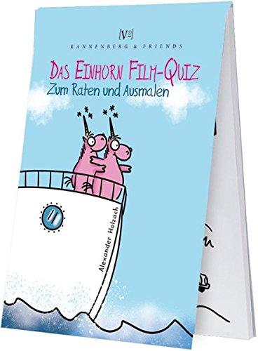 Das Einhorn Film-Quiz: zum Raten und Ausmalen (Spieleblöckchen)