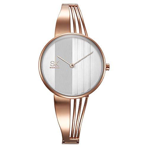 LCDYReloj De Cuarzo Impermeable Personalizado Simple Y Casual para Damas - Reloj Automático para Hombres...