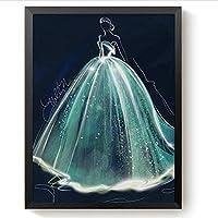 DIY Diamond Painting Kit 3D Wedding Dress Frameless Cross Stitch