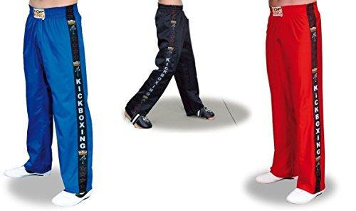 Pantaloni da Kick Boxing / Full Contact - (Nero, L)