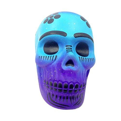 t zusammendrückbarer Animal Fruit Skull Stern Eis Cute lindert Stress Spielzeug langsam Rising Duft Cartoon kawaii Geschenk für Kinder und Erwachsene, totenkopf, M (Hot Pink Und Schwarz-party Dekorationen)