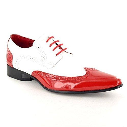 Blanco Rossellini Y Los Zapatos Rojo De Niños Hombres Brogue Noche Vestidos De 0qnwOvSP