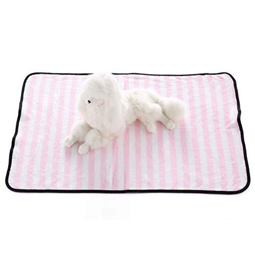 Homieco Haustier Decke Bettdecken weiche warme Hund Katze werfen Decke Schlafkissen Zubehör,  Klein/Streifen Pink - Streifen Werfen
