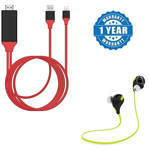 Captcha BQ K10 Compatible Certified MHL-Micro-USB-To-1080P-HDMI-HDTV-Cable-Adapter With Bluetooth 4.1 Wireless Sport Headset Running,Hiking,Exercise Jogger with inbuilt mic (1 Year Warranty)  available at amazon for Rs.899
