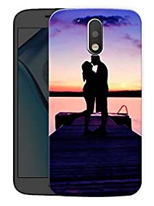 "Humor Gang Couple Love Kiss On TopPrinted Designer Mobile Back Cover For ""Motorola Moto G4"" (3D, Matte Finish, Premium Quality, Protective Snap On Slim Hard Phone Case, Multi Color)"