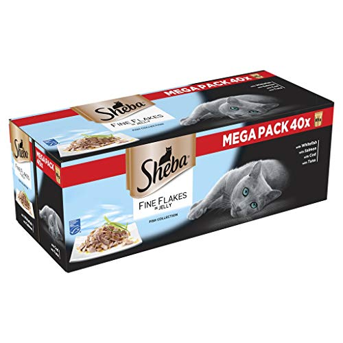 Sheba Fine Flakes Cat Food Pouch...