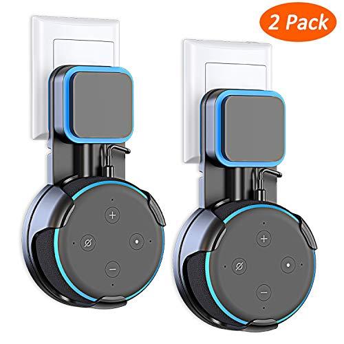 Cocoda [2 Packs] Wandhalterung für Dot (3. Gen.), Eine Platzsparende Lösung für Smart Home Lautsprecher, Dot Zubehör Halterung Ständer mit Kabelanordnung, Keine Unordentlichen Drähte