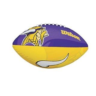 Wilson Football mit dem Logo des NFL Junior Teams, WTF1534IDMN, MINNESOTA VIKINGS, Für Kinder