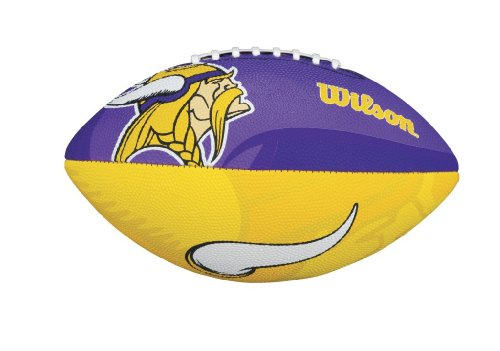WILSON Football mit dem Logo des NFL Junior Teams, WTF1534IDMN, Minnesota Vikings, Für Kinder