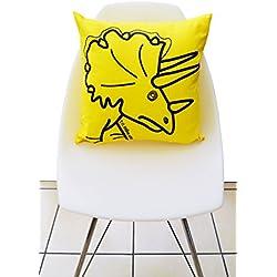 Cojin de dinosaurio amarillo