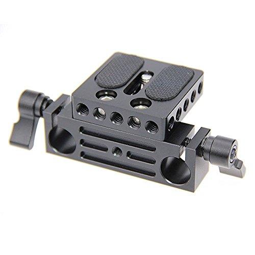 CAMVATE Camera base con binario per 15 mm DSLR Rig Sistema di Supporto binario da 15 mm