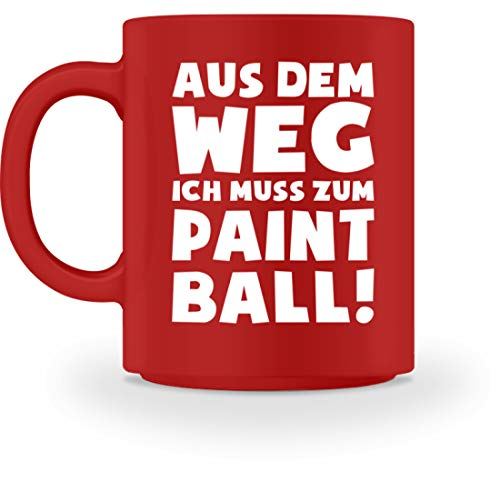 shirt-o-magic Paintball Softair: Muss zum Paintball! - Tasse -M-Rot