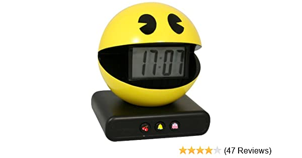 Alarm Clocks & Clock Radios Lovely New In Box Paladone Pac Man Digital Alarm Clock Official Game Sounds Special Buy