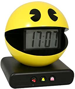 Paladone Pac-Man Alarm Clock with Authentic Game Sounds