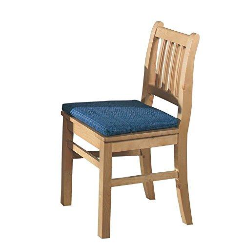 Pharao24 Stuhl Küchenstuhl 2er SET Rusti Fichte massiv blau