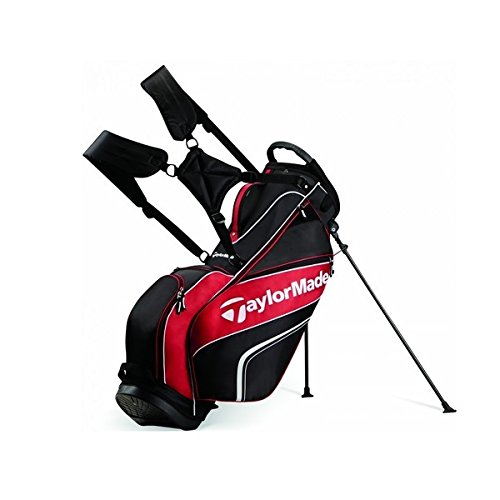 TaylorMade 2016 Pro Stand 4.0 Stand Bag Mens Carry Golf Bag 5-Way Divider Black/White/Red