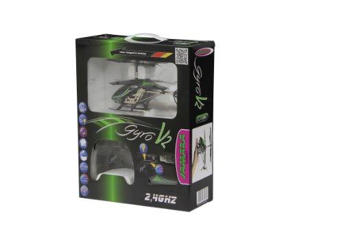 Jamara 038150 - Gyro V2 2,4G - Turbo, flexible Rotorblätter mit Winglets, robustes Aluchassis, Motorschutz bei blockierten Rotorblättern, welchselbarer LiPo-Akku, Licht ein / aus, Demomodus - 5